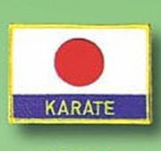 Broderat Märke Japan flagga Karate