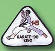 Broderat Märke Karate King