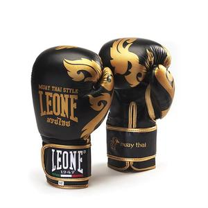Leone Boxhandske Muay Thai, Svart/Guld 10-16 oz
