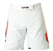 """Topten MMA Board Shorts """"Triangle"""" White/Black"""