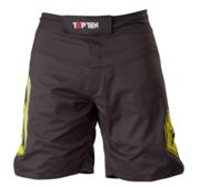 "Topten MMA Board Shorts ""Triangle"" Black/Yellow"