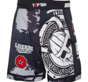 "Topten MMA Board Shorts ""Vikings"" Svart/Grå/Röd"