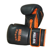 "Topten Sparring gloves  ""Elite Hi-Grade"", Black/Orange 18 oz"