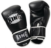 King Boxningshandske, Svart/Vit 10 oz-16 oz