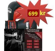 PAKET DVD + Topten boxhandske Strike, 12 oz