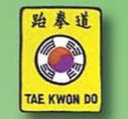 Broderat Märke Taekwondo Flagga