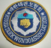 Broderat Märke Korea TKD