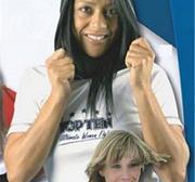 Topten Ultimate Women Fight T-Shirt/hood, White/Black, Large
