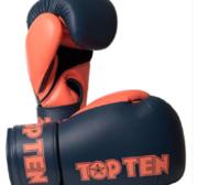 Topten Boxningshandske XLP, Gråblå/Orange 10-12 oz