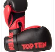 Topten Boxningshandske XLP, Svart/Röd 10-16 oz