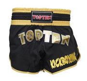 Topten Kickboxing Thaishorts Flexz Pro, Svart/Guld