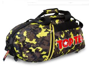 Topten Väska/Ryggsäck, Camouflage Svart/Brun/Gul Large