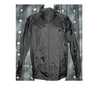 Printer Windbreaker Jacket,Large Black 180 cm
