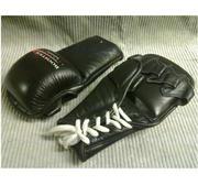 Grappling handske med snörning Läder, Large