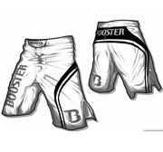 Booster MMA shorts PRO Trial, Vit/Svart