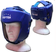 AIBA Topten Head guard  Leather, Blue