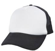 Black Hill Texas Cap, Black/White 58 cm