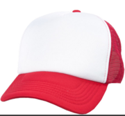 Black Hill Texas Cap, Red/White 58 cm