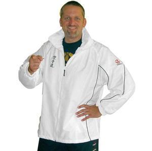 Hayashi Windbreaker with Karate logo, White