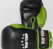 Topten Boxingglove Giant Black/Green 10-16 oz