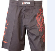 Topten MMA Board Shorts Dragon, Svart/Röd