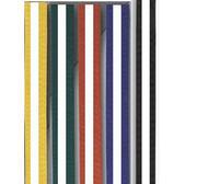 Moon bälte färgade/vit stripe 4  - 4,5 cm 280 cm