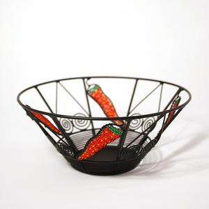 Wrought iron bowl, small chili