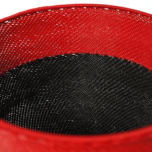 Telefontrådskål röd och svart
