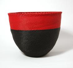 Puhelinlanka kulho punainen ja musta