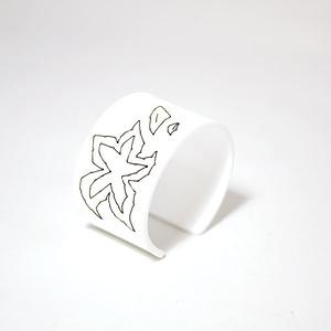 Armband Stitched, white 40 mm