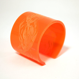 Cuff Flame, orange 50 mm