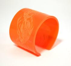 Cuff Flame, orange 50 mm