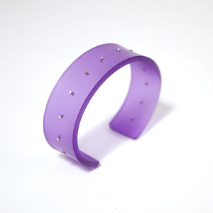 Armband Silver dot, aurora violet, 20 mm