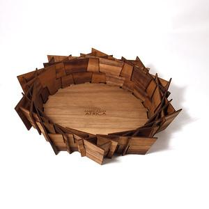 Lazercut bowl, Walnut