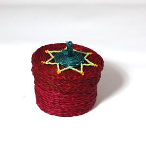 Jewellery box small,  wine red