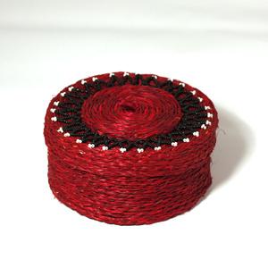 Jewellery box large, red