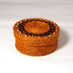 Jewellery box large, orange