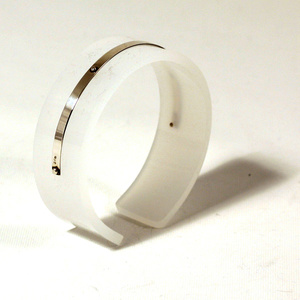 Armband Silver strip, matt vit 20 mm