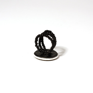 Klimt Red, ostrich egg Ring