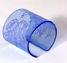 Armband Morris blomma, blå, 60 mm