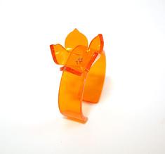 Cuff rose orange, 20 mm