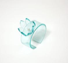 Armband ros clear aqua , 20 mm
