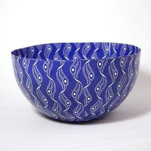 Skål stor Shweshwe blå