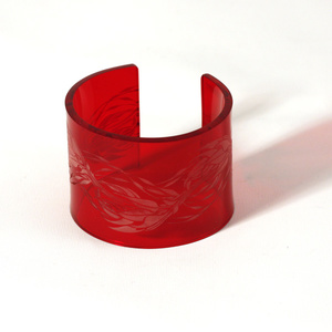 Armband Flame, mörkröd 50 mm