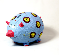 Moneybox large mouse light blue