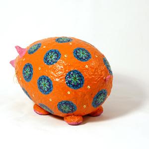 Moneybox large Mouse orange