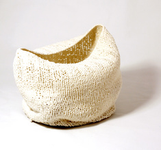 """Knitted bowl """"The boat"""", big"""