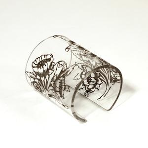 Cuff, Morris Flower,  Transparent, 80 mm