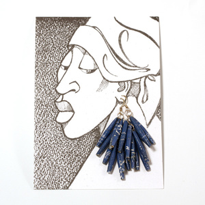 Drop Earring Gold and Blue