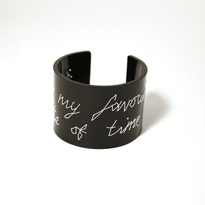 "Armband Stitched, svart ""you're my favourite waste of time"" 50 mm"